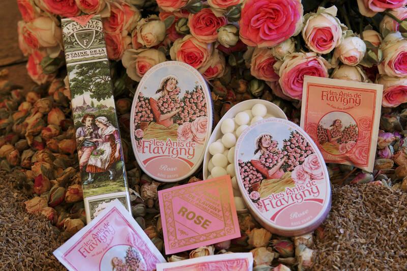 Cajas y estuches de pastillas de anís de Flavigny
