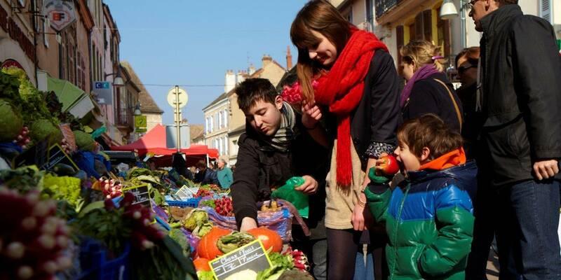 Chagny, Una vuelta por el mercado