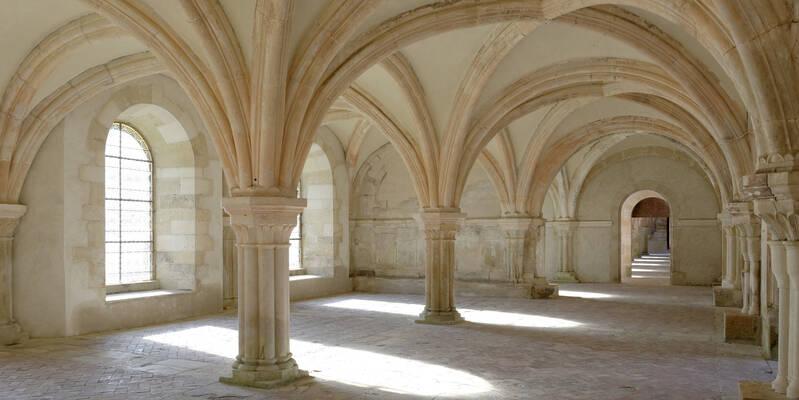 Abadía de Fontenay_Sala capitular  ©Fréderic Dupin