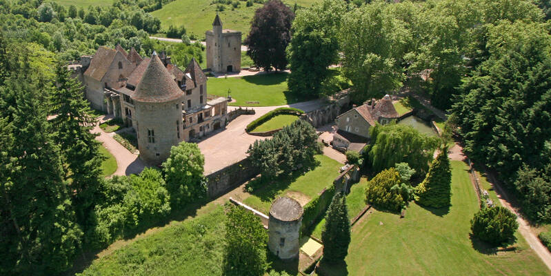 El castillo de Couches y sus viñas