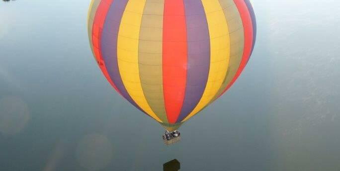 Chagny, Vuelo en globo aerostático
