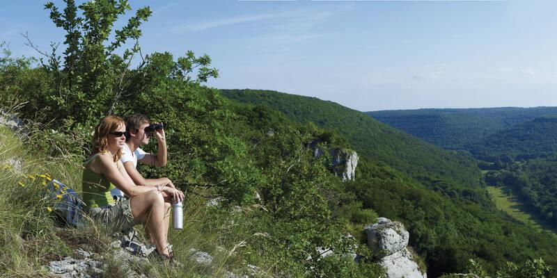 Bouilland: vista de las laderas