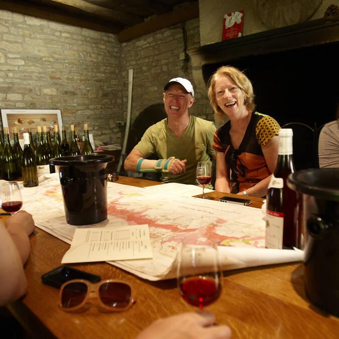 Con un viticultor