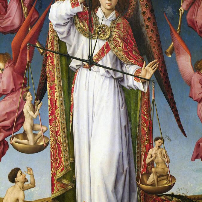 Hospicios de Beaune, Políptico del Juicio Final, détail.