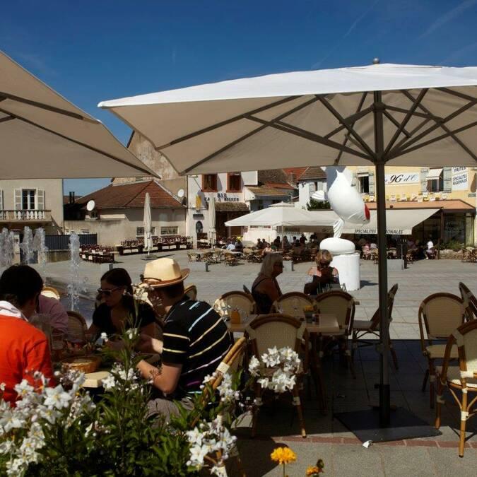 Una terraza de Chagny